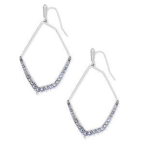 Kendra Scott Lilac Crystal Earrings